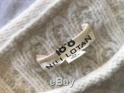 Nili Lotan Ivory Cable Knit Pullover Sweater (insanely Luxe!) Xs