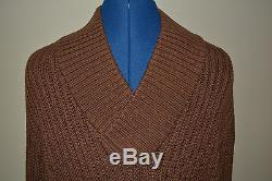 Nwt Burberry Mens $695 Cotton Silk Cable Knit Sweater Sz XL