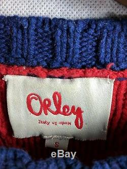 Orley Balboa Red Cable Knit Small