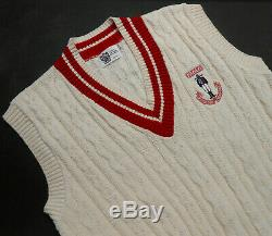 Paolo Gucci New Vtg Cable-knit Golf/tennis Sweater Vest Cotton Made In USA Sz M