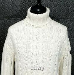 Paul & Shark Yachting roll neck submariners fisherman cable sweater Jumper XL