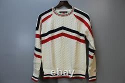 Perfect Moment Tignes Strped Cable-Knit Wool Sweater ColorSnow White SizeSmall
