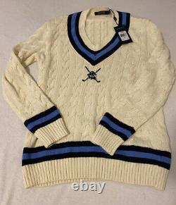 Polo Golf Ralph Lauren Cable Knit Tennis Cricket Sweater Mens Large