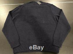 Polo Ralph Lauren Bear Sweater Teddy Bear Cable Knit Limited Edition Mens XL NWT
