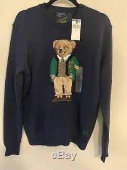 Polo Ralph Lauren Bear Sweater Teddy Bear Cable Knit Limited Edition. Size Small