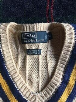 Polo Ralph Lauren Cable Knit Cricket Sweater Vest M Pre-owned