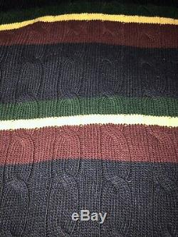 Polo Ralph Lauren Cable Knit Hooded Sweater 2XL XXL $216.00
