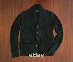 Polo Ralph Lauren Cable Knit Shawl Collar Cardigan Men's Sweater ORG$500