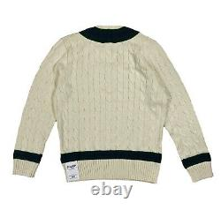 Polo Ralph Lauren Cable Knit Sweater Cricket Jumper Polo Rugby Medium M