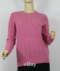 Polo Ralph Lauren Cashmere Sweater Cable Knit Womens Small Pink