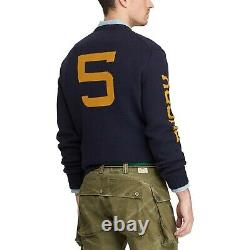 Polo Ralph Lauren Iconic Bear Sweater Kicker Rugby Football L Large NWT $398