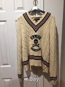 Polo Ralph Lauren Rugby Polo Skull And Crossbones Cable Knit Sweater