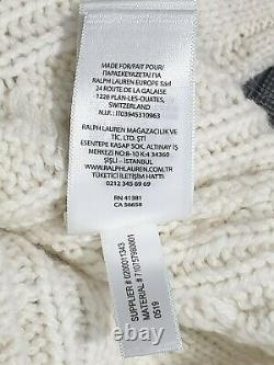 Polo Ralph Lauren St Andrews cable Knit Sweater cricket jumper sweater size L
