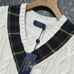 Polo Ralph Lauren St Andrews cable Knit Sweater cricket jumper sweater size S