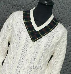 Polo Ralph Lauren St Andrews cable Knit Sweater cricket jumper sweater size XL