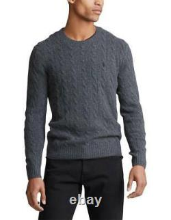 Pre-order Genuine Ralph Lauren Cable Knit Wool-Cashmere Jumper Sweater in Grey