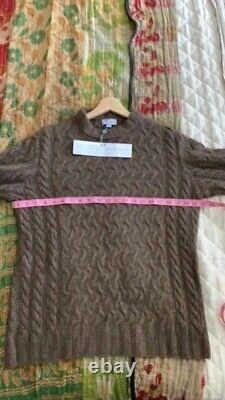 Qiviut (100% Muskox) Pullover Sweater Brown Size M New with Tags