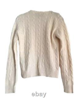 RALPH LAUREN COLLECTION $995 Classic Cable Knit Sweater 100% Cashmere S