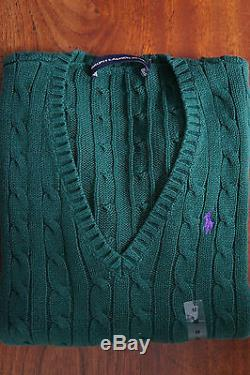 RALPH LAUREN WOMENs LADIES CABLE KNIT CREW V-NECK SWEATERs JUMPERs XS S M L XL