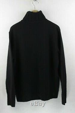 RARE VINTAGE Mens MOSCHINO Jumper ROLL NECK CABLE KNIT Sweater SLIM Large P33