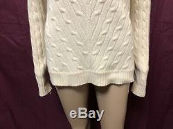 Ralph Lauren Jumper Women Small Med Great Cond Cashmere Cable Knit Sweater