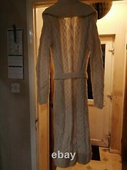 Ralph Lauren women's long cable knitted Cardigan size M/L