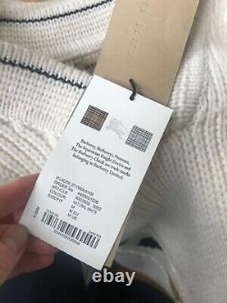 Rare Burberry Natural White Cable Knit Cashere Jumper BNWT