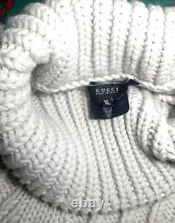 Rare GUCCI x TOM FORD Heavyweight Cable Knit Merino Wool Turtleneck Sweater XL