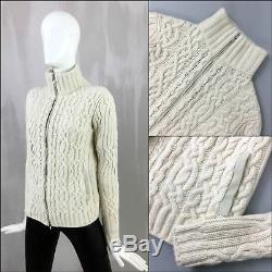 Rare Loro Piana Women BABY CASHMERE Cable Knit Cardigan Jacket Size S IT40 US2 4