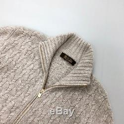 Rare Loro Piana Women BABY CASHMERE Cable Knit Cardigan Jacket Size S IT42 US4 6