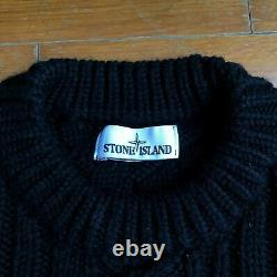 Rare Stone Island Cable Knit Logo Sweater Size S Aw2019 Shadow Project
