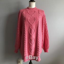 Rare Unreleased Lazy Oaf Sweetheart Jumper Cable Knit Sweater Pink M