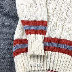 Rochfords Cable Knit Tennis Cricket V Neck Pure WOOL Sweater Size 50 Preppy