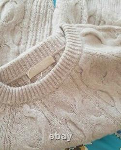 S MaxMara cashmere and wool cable knit jumper, Size L, RRP £350