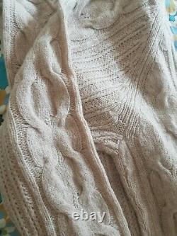 S MaxMara cashmere and wool cable knit jumper, Size XL, RRP £355