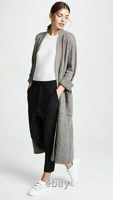 Sablyn $1,460 Vanessa Cabled Cashmere Sweater Coat/duster In Otter (!) M