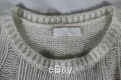 Sablyn $795 Oversized Twisted Cable Cashmere Sweater (super-rare!) Xs