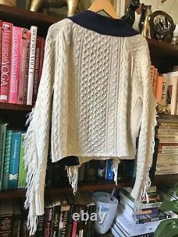 Sacai Japanese Designer Pure Wool Cable Knit Jumper Mens M-L Ladies Oversized