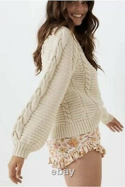 Spell And The Gypsy Brunch Cable Knit Jumper Size M