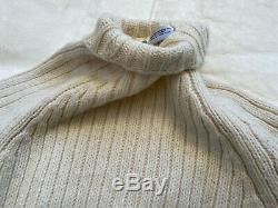 TSE Surface Cable-Knit Wool Sweater Women Sz L Cashmere Classic Pullover Beige