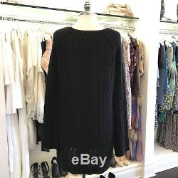 The Perfext Cashmere Elongated Cable Knit Sweater Dress Size S