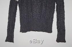Thom Browne Linen/Cotton Gray Cable Knit Sweater Size Large Made in Ireland