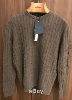 Thom Sweeney, Jumper, Size- M, 100% Cashmere Cable, Tan (-BRAND NEW-) RRP-£590
