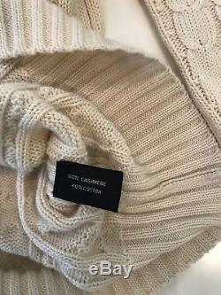Tom Ford Mens V-Neck cable knit sweater cashmere/cotton