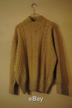 Unisex Piacenza Pure Cashmere Sweater Chunky Cable Knit Jumper L XL 12-18