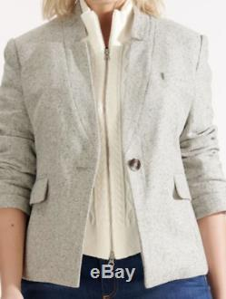 Veronica Beard CASPIAN Ivory Cable-Knit sweater Dickey Vest for Jacket NWT- $250