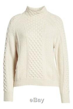Vince Mixed Cable Wool & Cashmere Blend Sweater Size XS