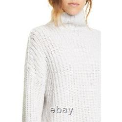 Vince lofty rib turtle funnel neck cable knit cashmere wool blend sweater Sz XS