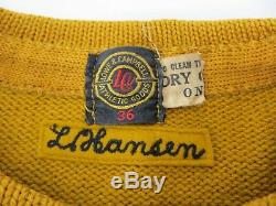 Vintage 1920's Football Varsity Letterman Cable Knit Sweater W (Webster City) 36