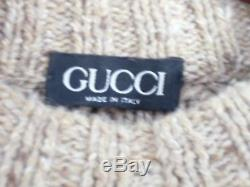 Vintage Gucci Cable Knit Sweater